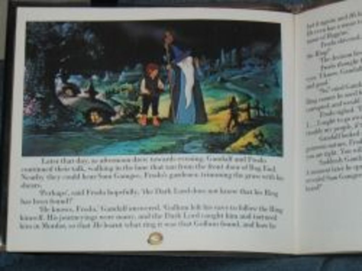 Picture of the Lord of the Rings Movie Book for Kids