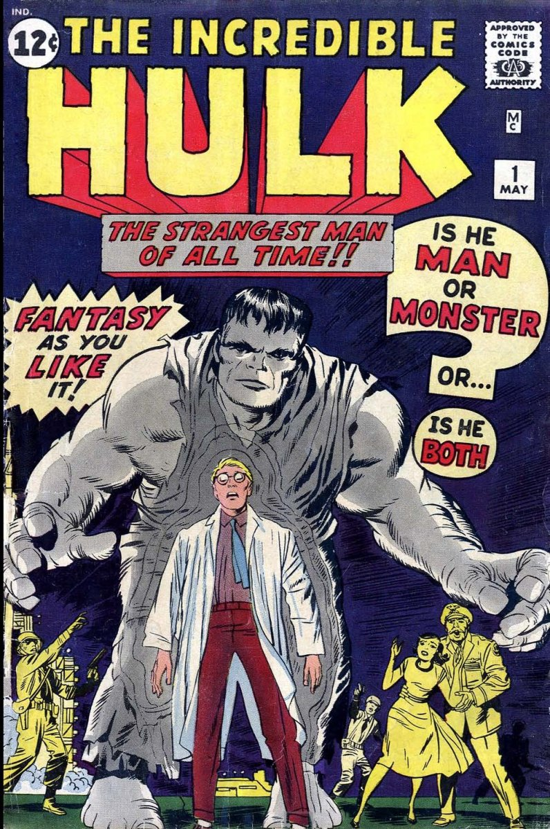 The first Hulk comic book was released in 1962