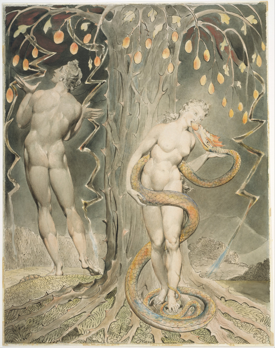 "William Blake's ""The Temptation and Fall of Eve"""