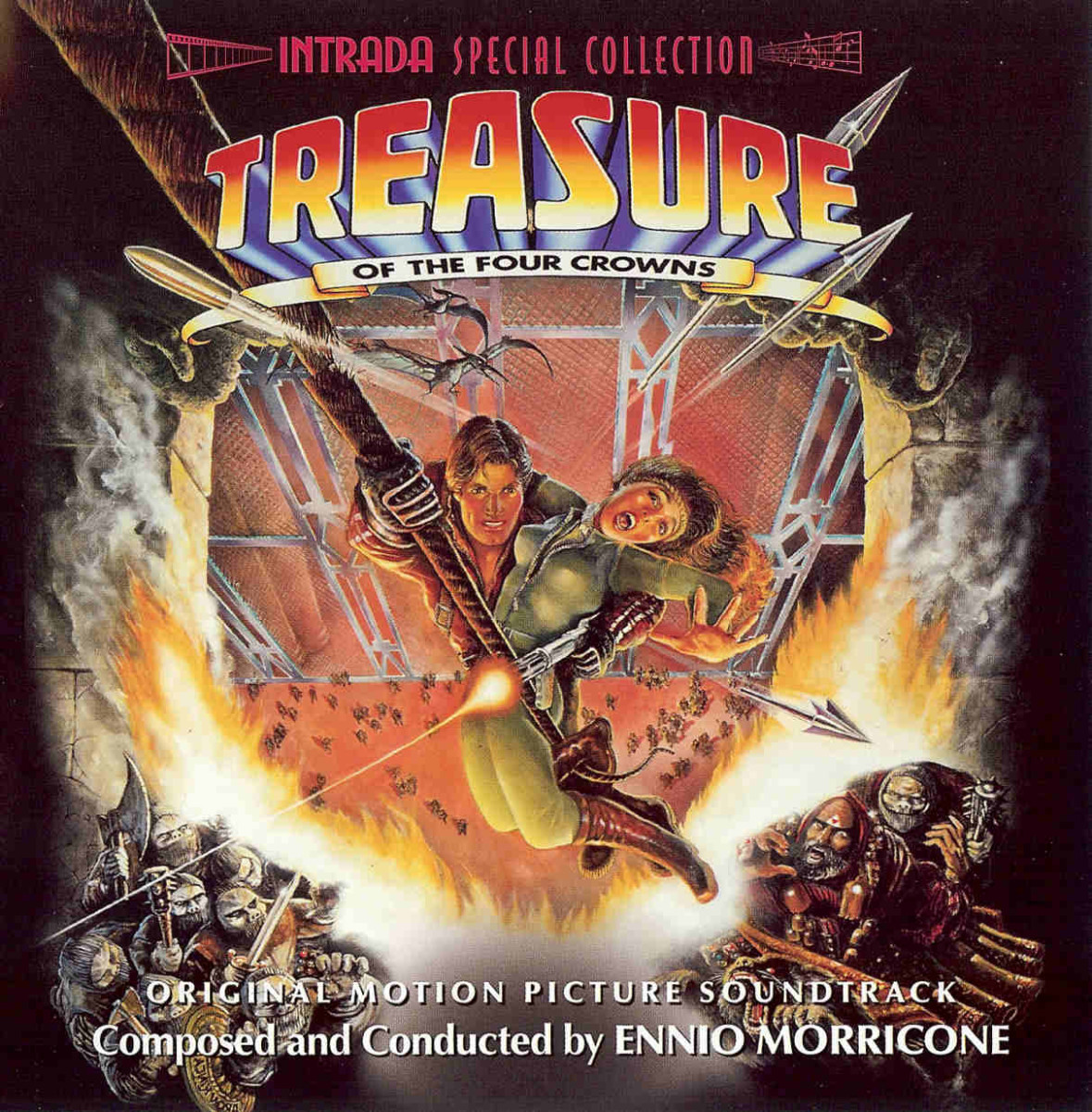Treasure of the Four Crowns' soundtrack was scored by the great Italian film composer Ennio Morricone.