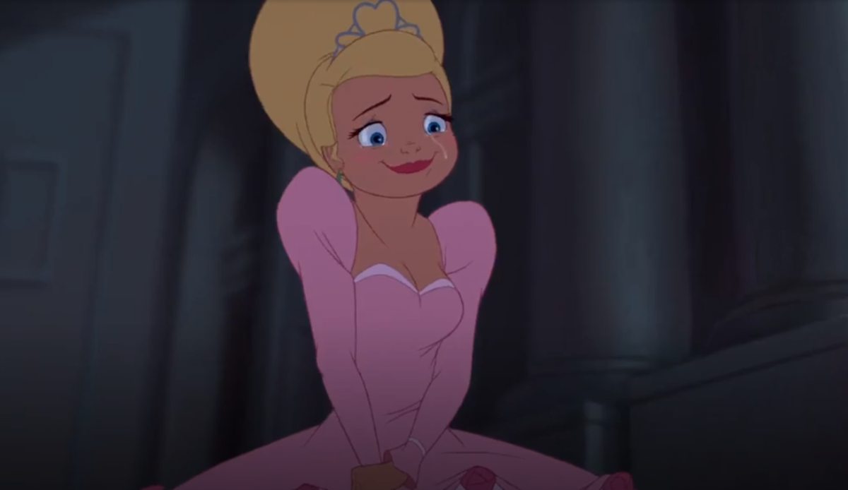 My screenshot of Lotte being happy for Tiana and Naveen.