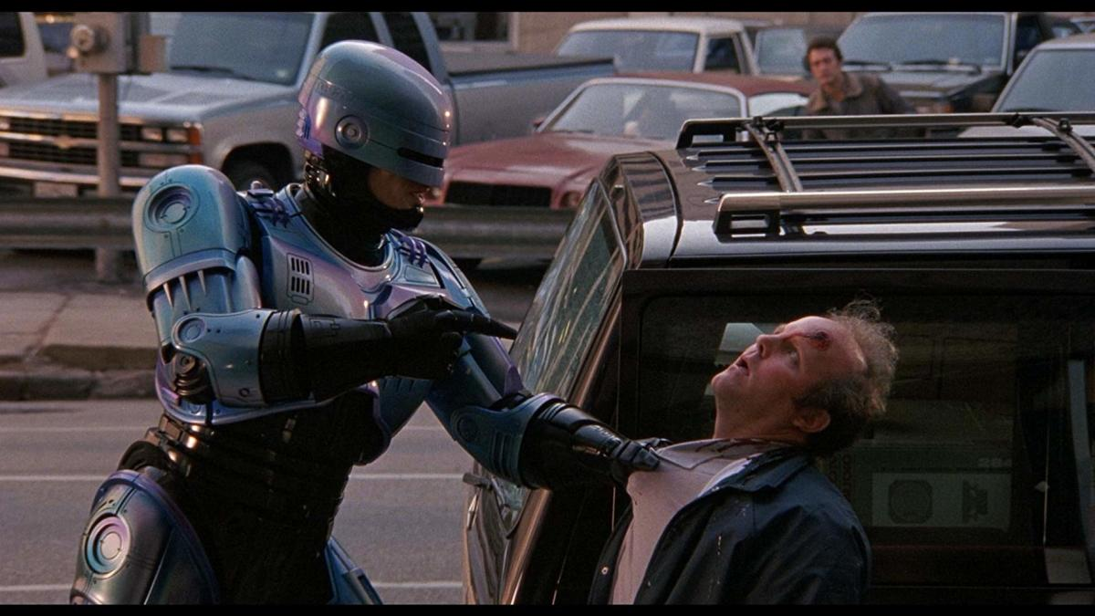 Scene from RoboCop 2 where RoboCop explains the dangers of smoking.