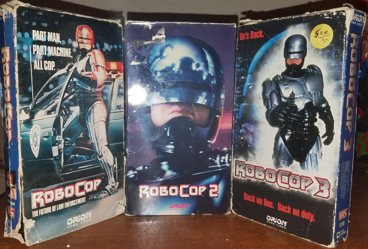 My actual VHS copies of the original trilogy.