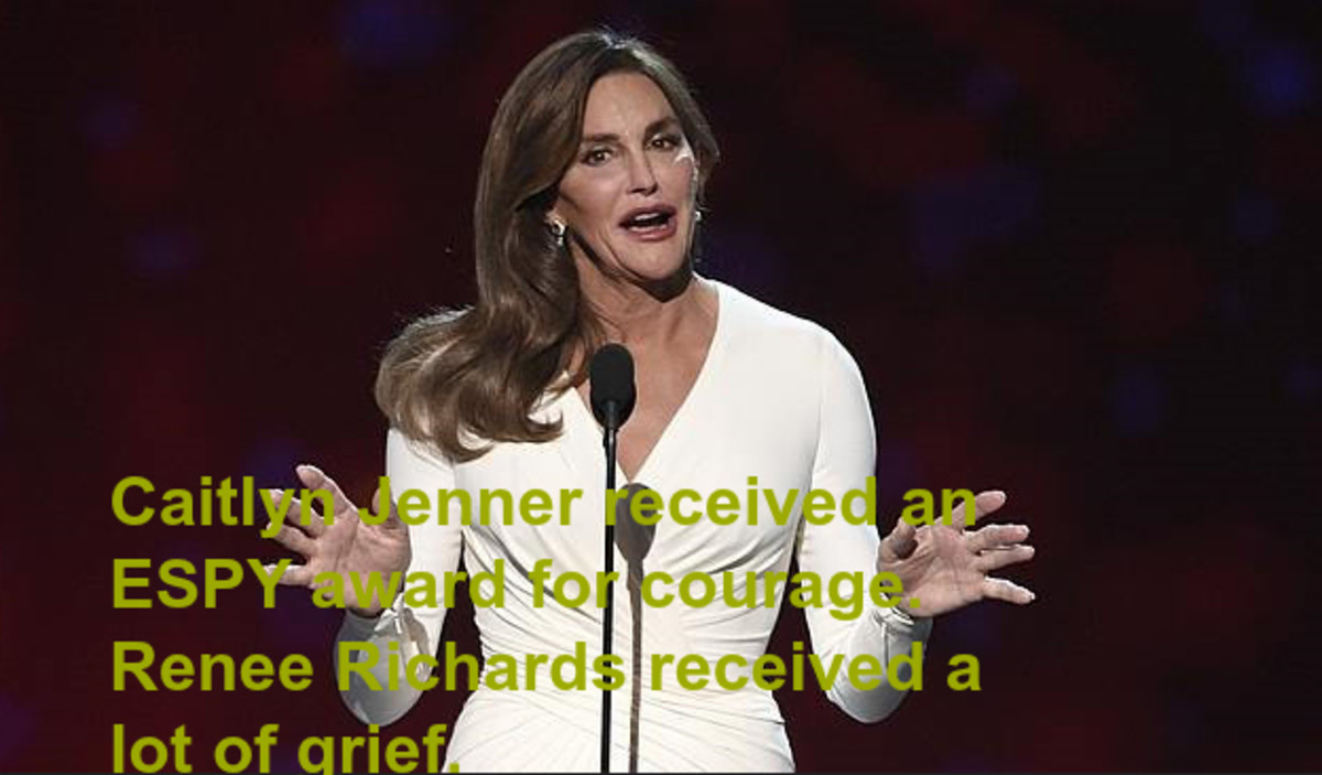 Caitlyn Jenner's future looks bright. Renee Richards faced a bumpy road.