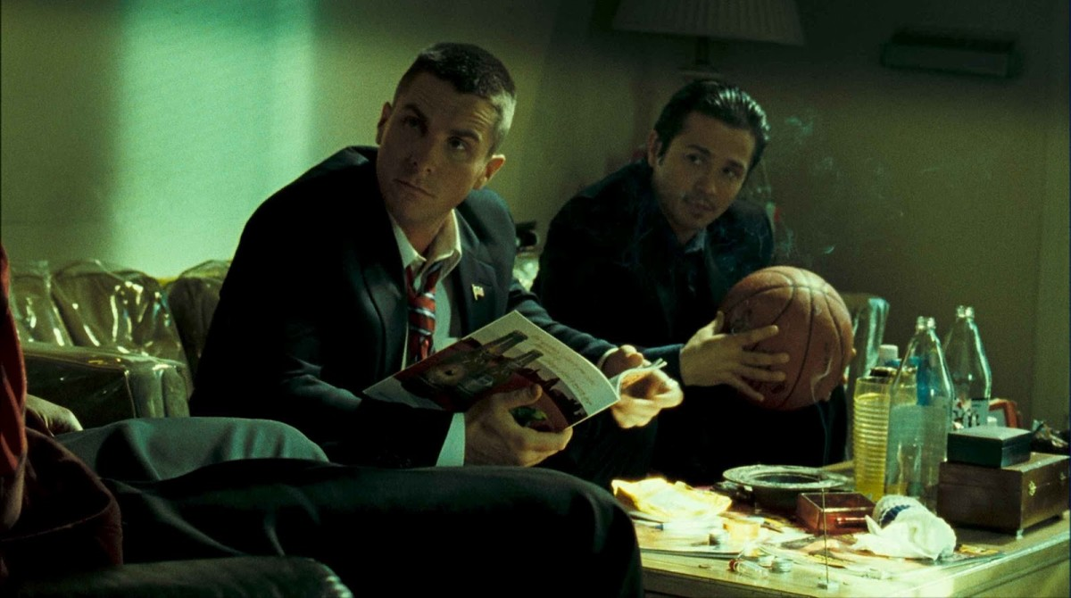 "Christian Bale and Freddy Rodriguez in, ""Harsh Times."""