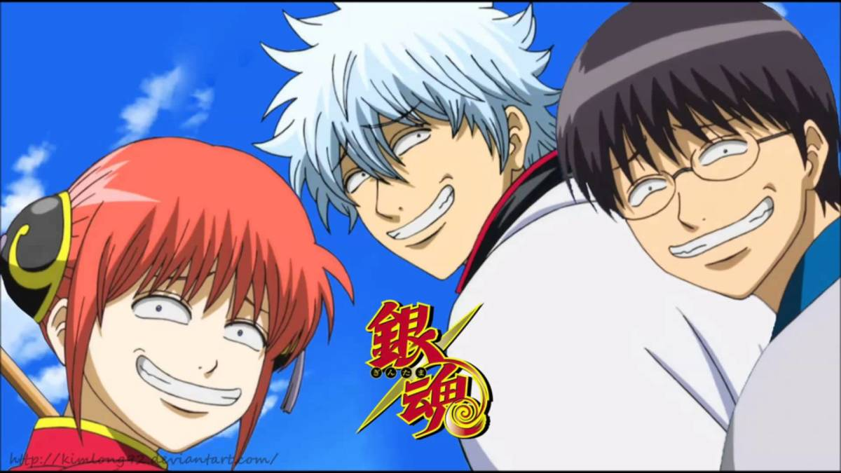 Gintama, a series combining shounen and comedy, especially parodies of other anime.