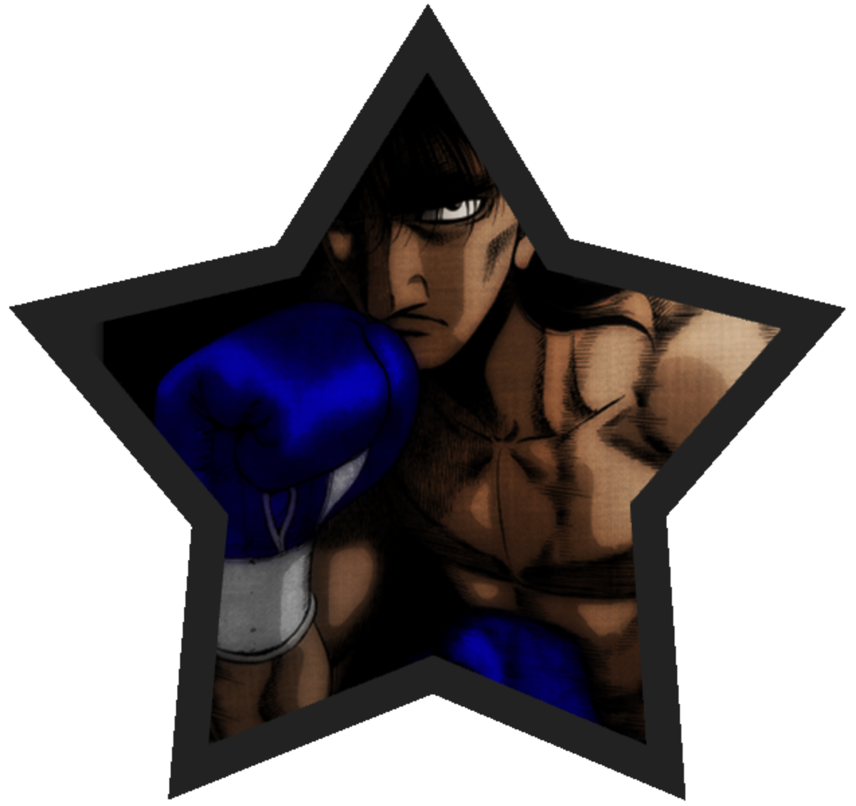 Mashiba's fighting pose.