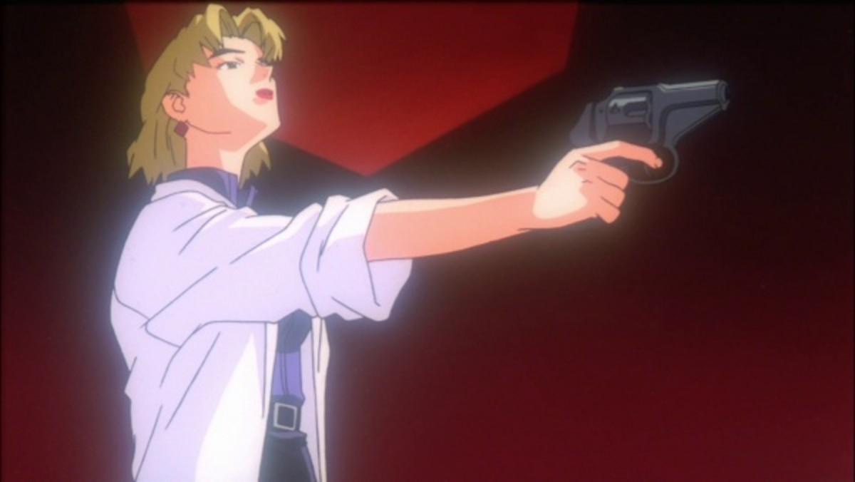 Ritsuko's death scene shows her as confident and full of herself, in stark contrast to Misato's self-doubt during her death scene.