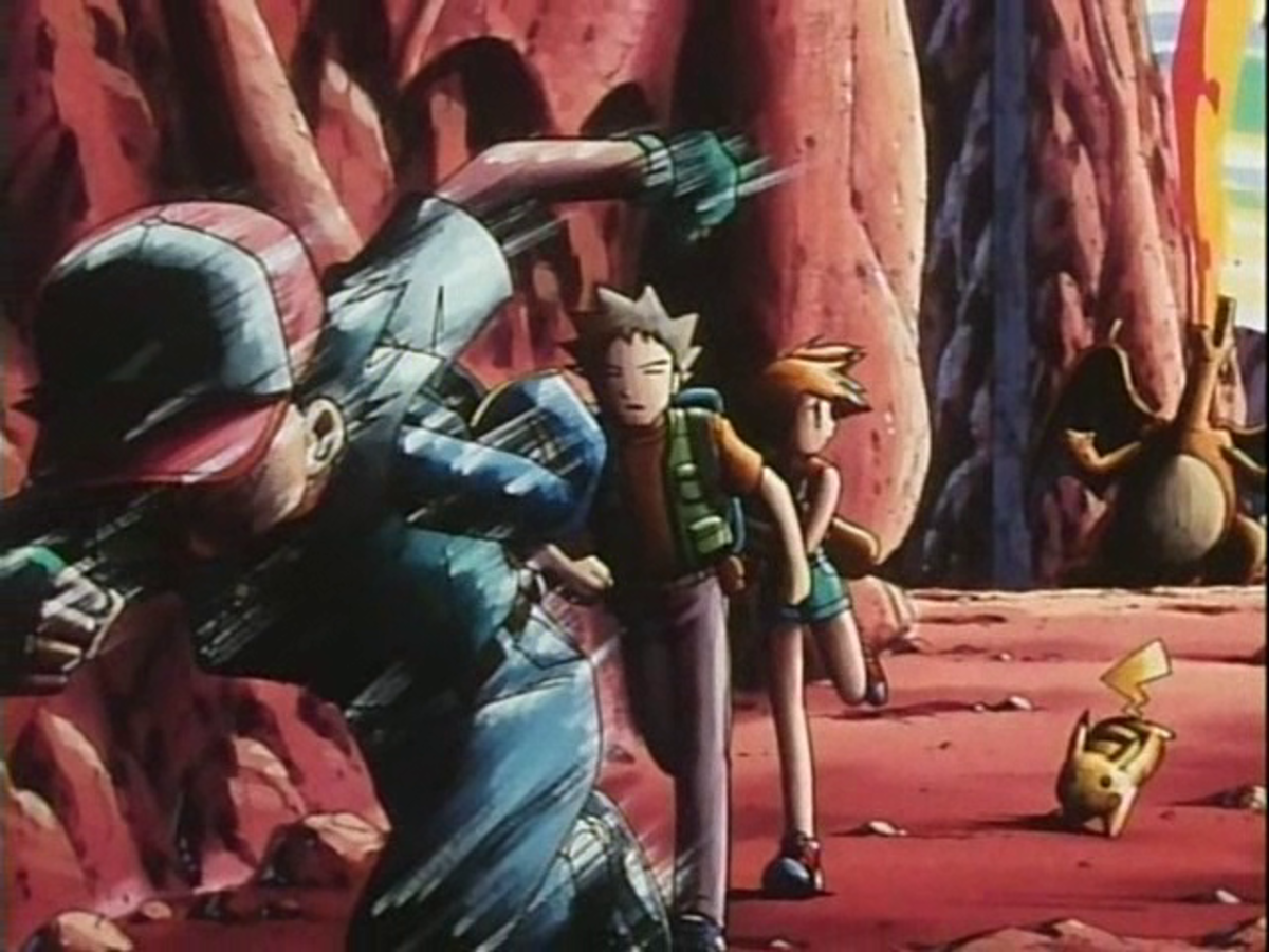 Ash leaves Charizard at Charicific Valley