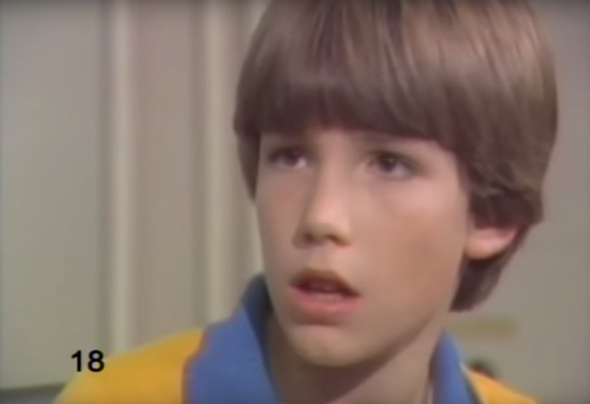 The young Bruce Wayne? Its Ben Affleck as a child actor in the educational TV series The Voyage of the Mimi during the 80s.