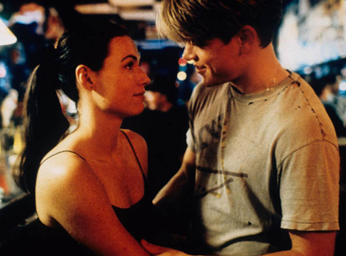 Will Hunting (Damon) and Skylar (Minnie Driver) dated on and off the screen. How do you like them apples?