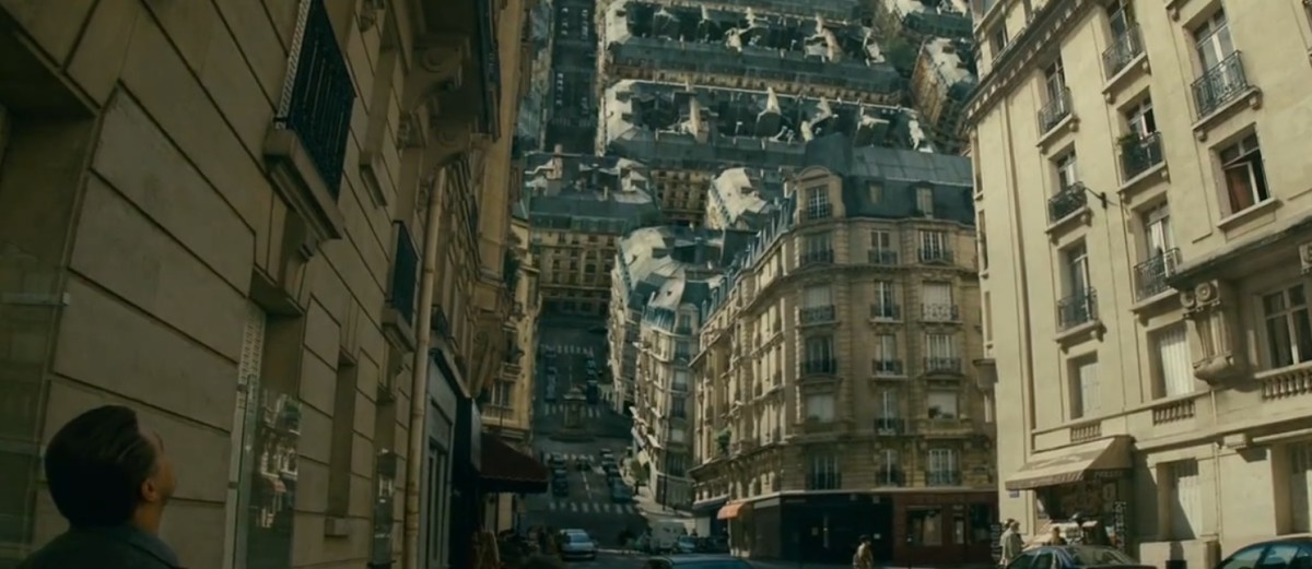 The mind-blowing effects include the dizzying spectacle of Paris folding up on itself...