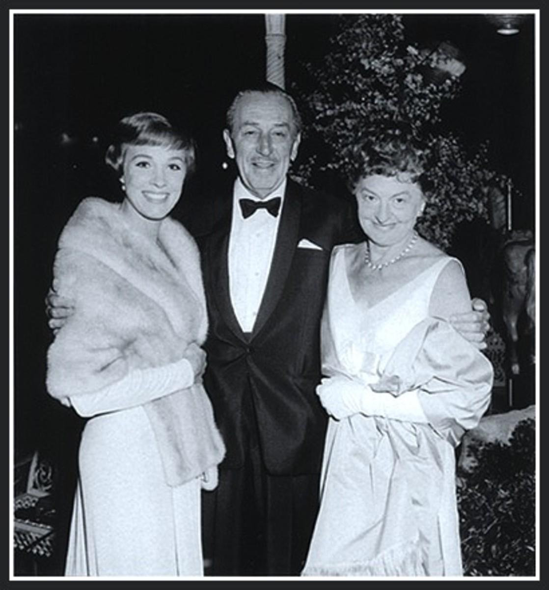 Julie Andrews, Walt Disney and Pamela L Travers