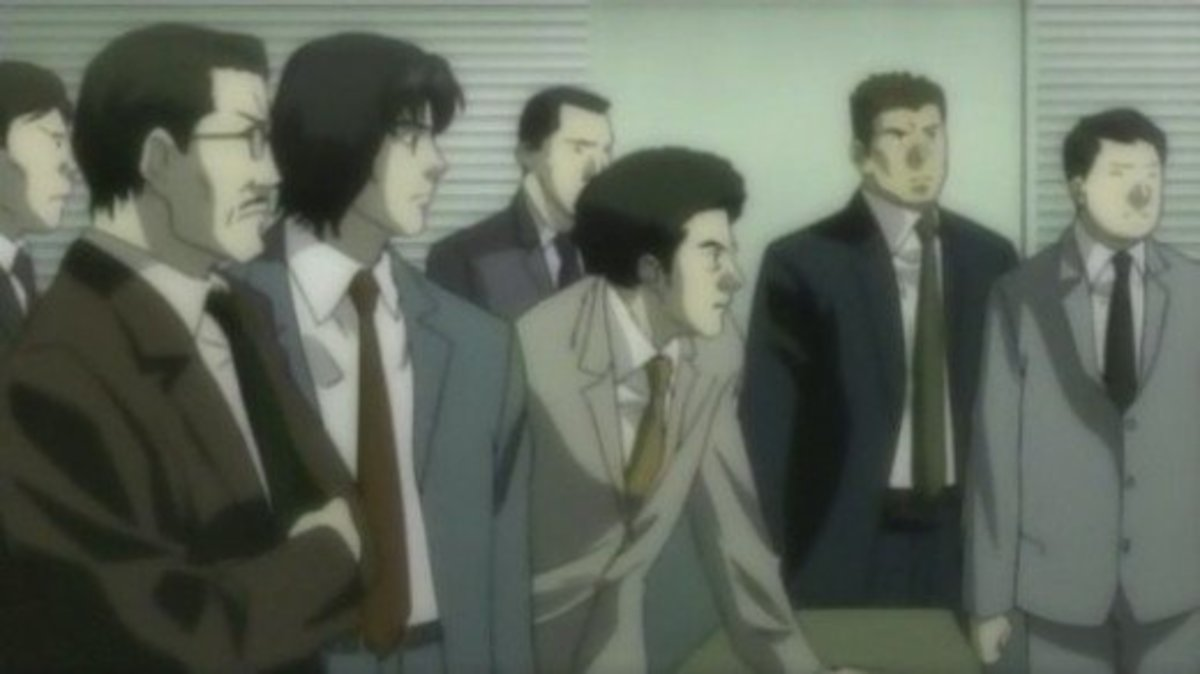 Soichiro Yagami and members of the Japanese National Police Agency investigating Kira's case