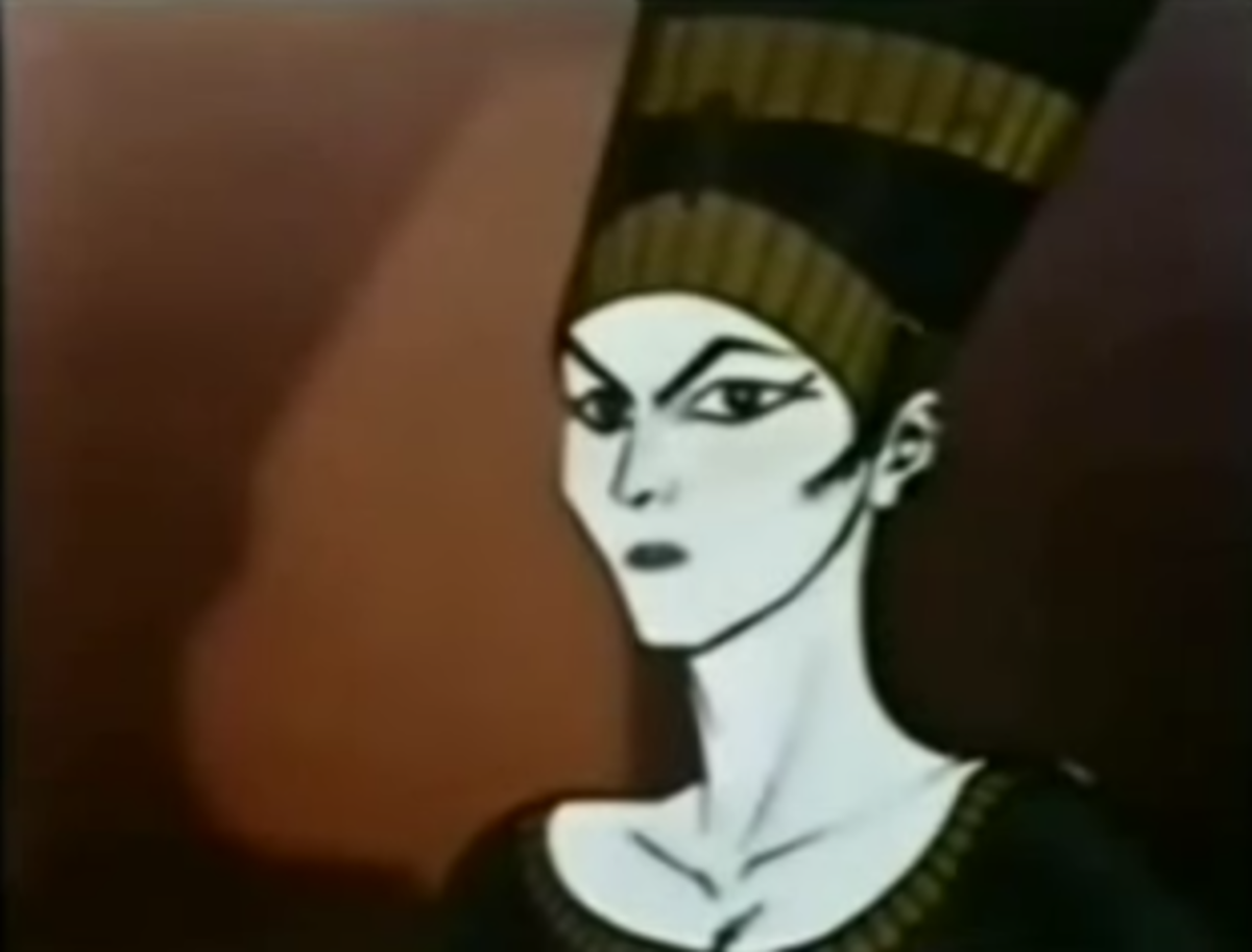 One of the most frequent villains opposing the Starduster, Queen Zora, who bears a striking resemblance to Queen Nefertiti.