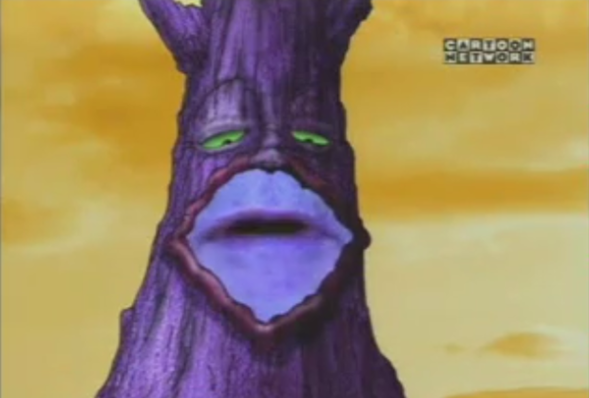 One of the last legitimate uses of Syncro-Vox was in an episode of Courage the Cowardly Dog that aired on Halloween in the year 2000, where a magic tree speaks with real lips