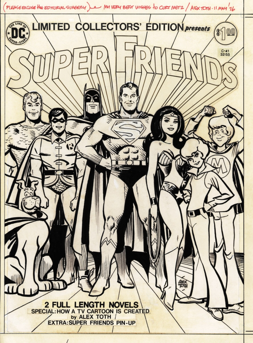 Both Cambria founder Clark Haas and comic book artist Alex Toth would eventually work on the same project again with Hanna-Barbera's Super Friends series during 1973
