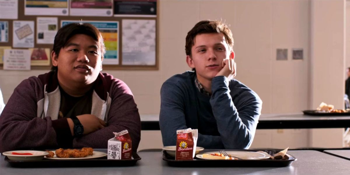 Baby-faced Holland (right) is perfect as Parker, verbally sparring with his equally geeky mate Batalon (left).