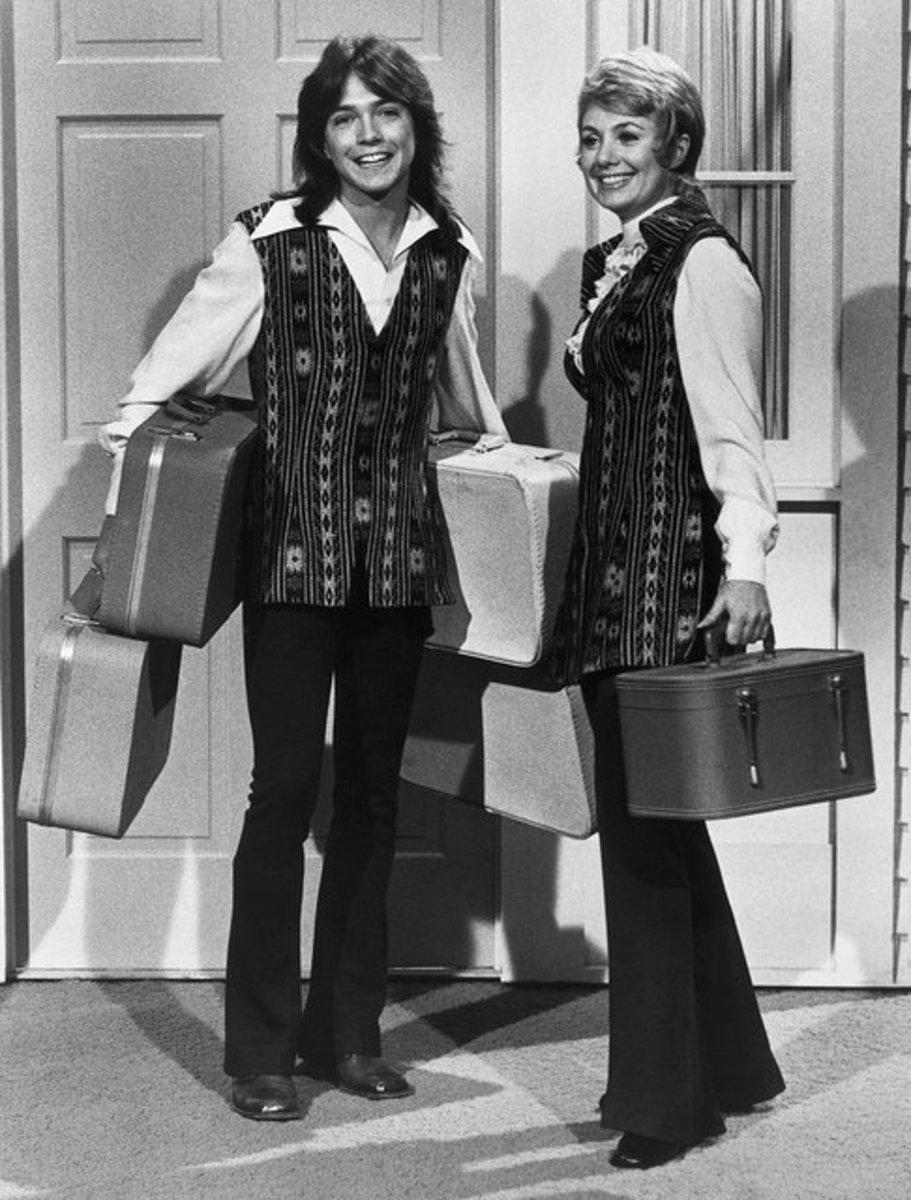 David Cassidy on set with Shirley Jones