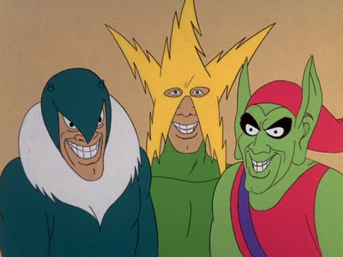 The cartoon featured many of Spider-Man's classic villains, at least for its first season.