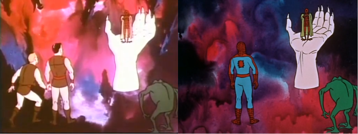 "Two episodes of Spider-Man recycled footage and characters from another series, ""Rocket Robin Hood""."