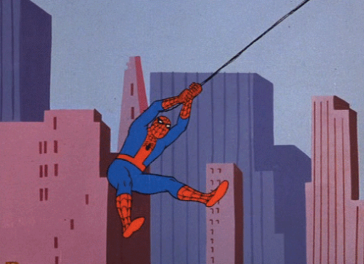 The 60's Spider-Man cartoon made very heavy use of stock animation, especially of Spider-Man swinging.