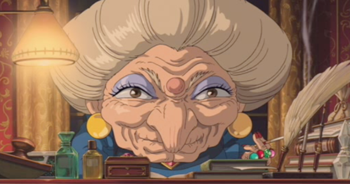 Yubaba, the tyrannical proprietor of the traditional bathhouse in Spirited Away