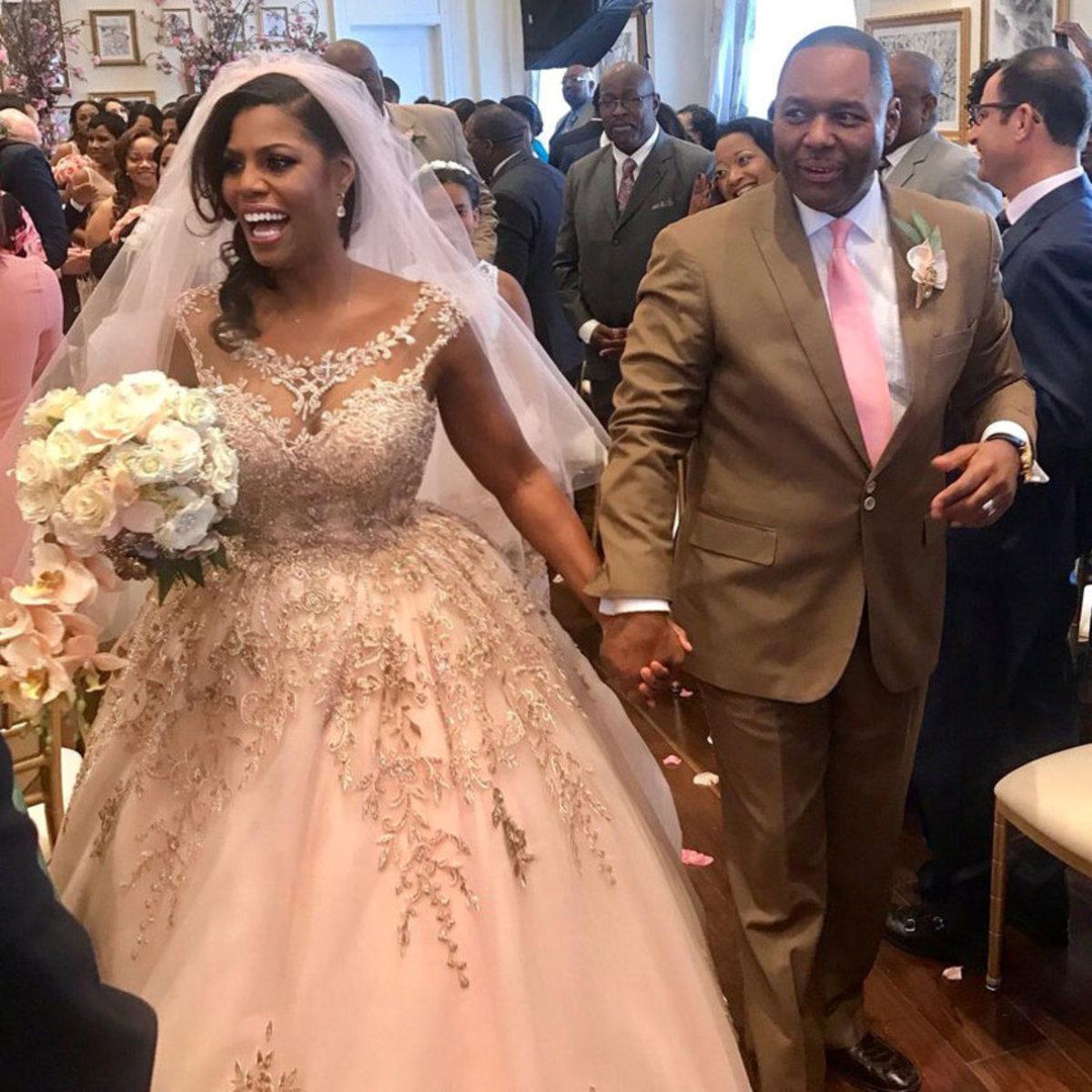Omarosa married Pastor John Allen Newman on April 8, 2017.