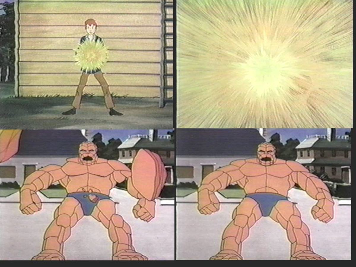 In 1979, Hanna-Barbera would make a series of cartoons about a boy who could transform into the Thing via a magic ring.
