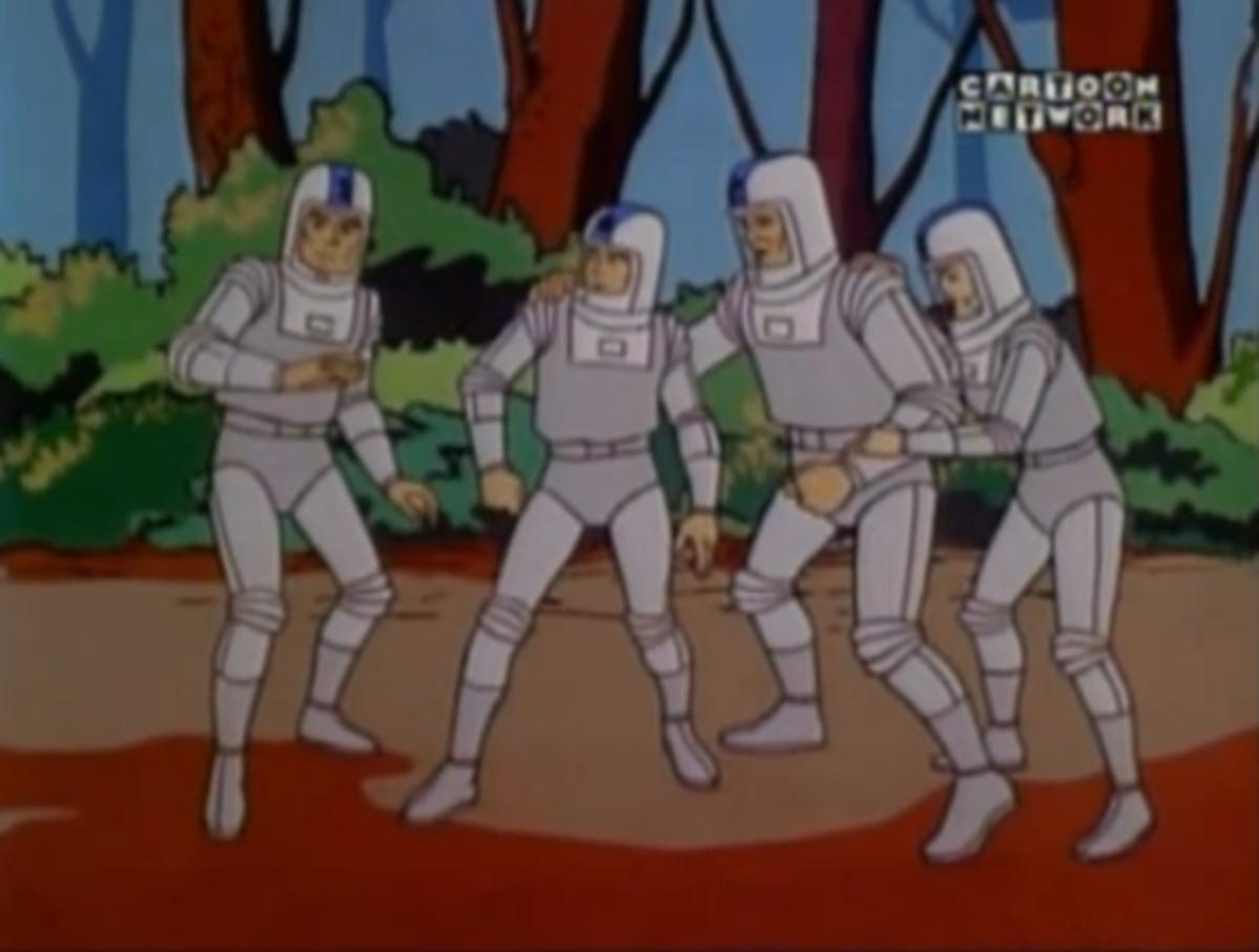 The Fantastic Four as seen in their origin.