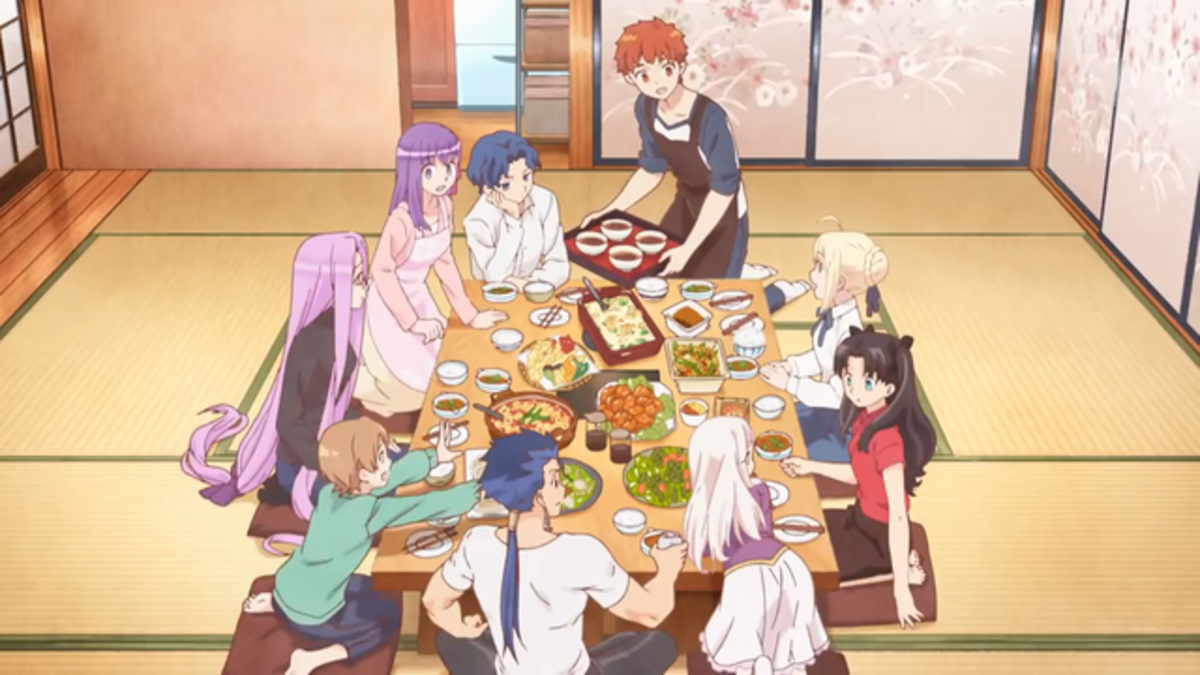 "The ""Emiya Family"" all eating together."