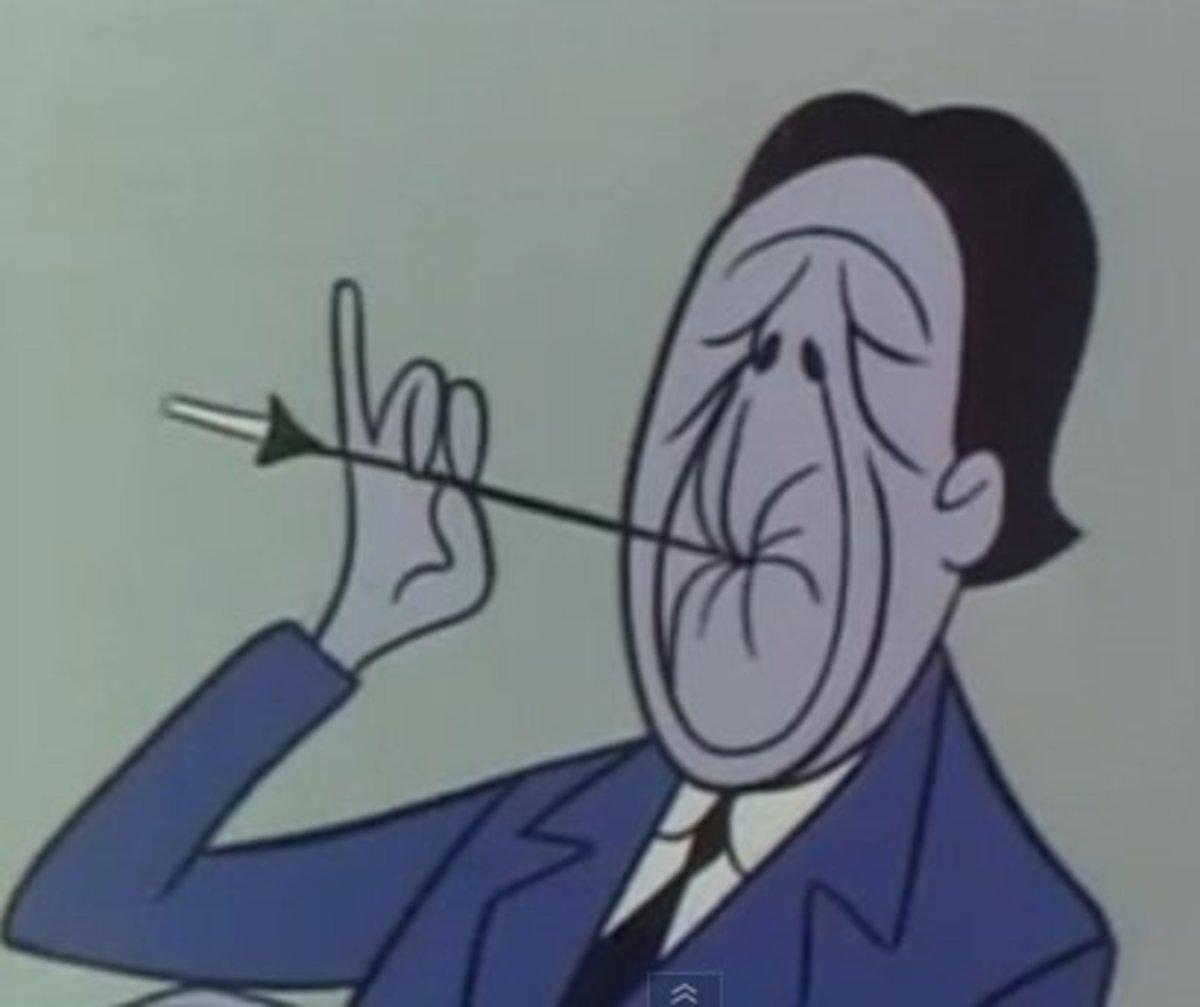 Pruneface, who speaks in a voice similar to Boris Karloff