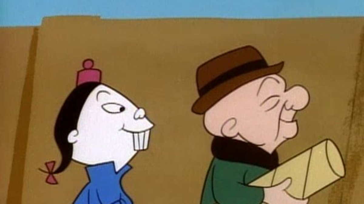 Mr. Magoo with his Chinese assistant Charlie close behind