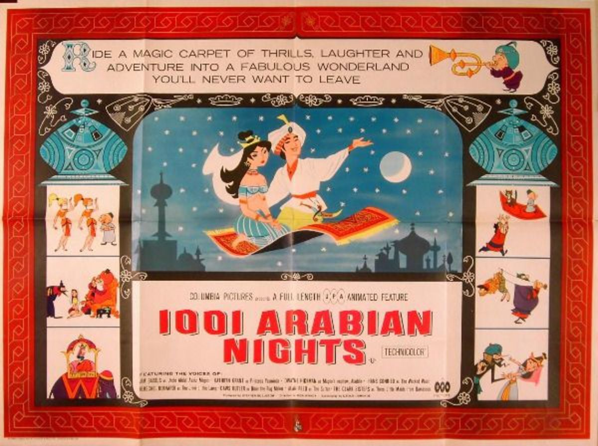 """""""1001 Arabian Nights"""", starring Mr. Magoo, was UPA's first and only animated feature. Its financial failure led to UPA's shift to television."""