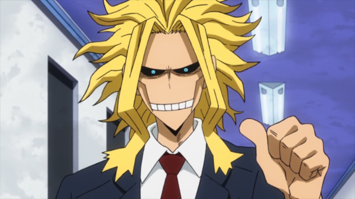 All Might in his weakened form, that he hides from the public.