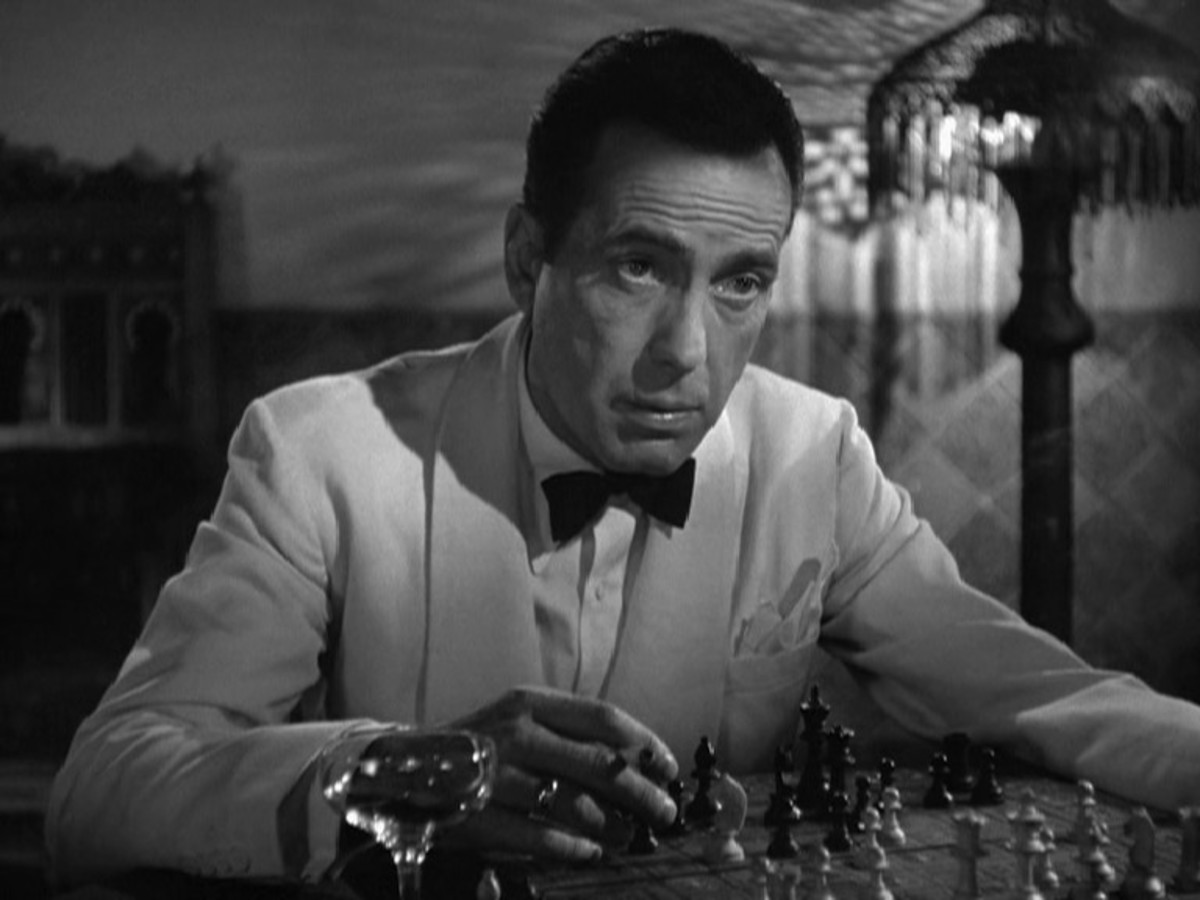Bogart goes from smooth party charmer to reluctant war hero with a broken heart with worrying ease