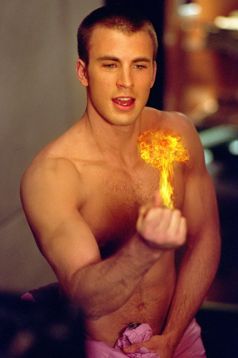 "Before he became Captain America, Evans was an annoying Human Torch in ""Fantastic Four"""