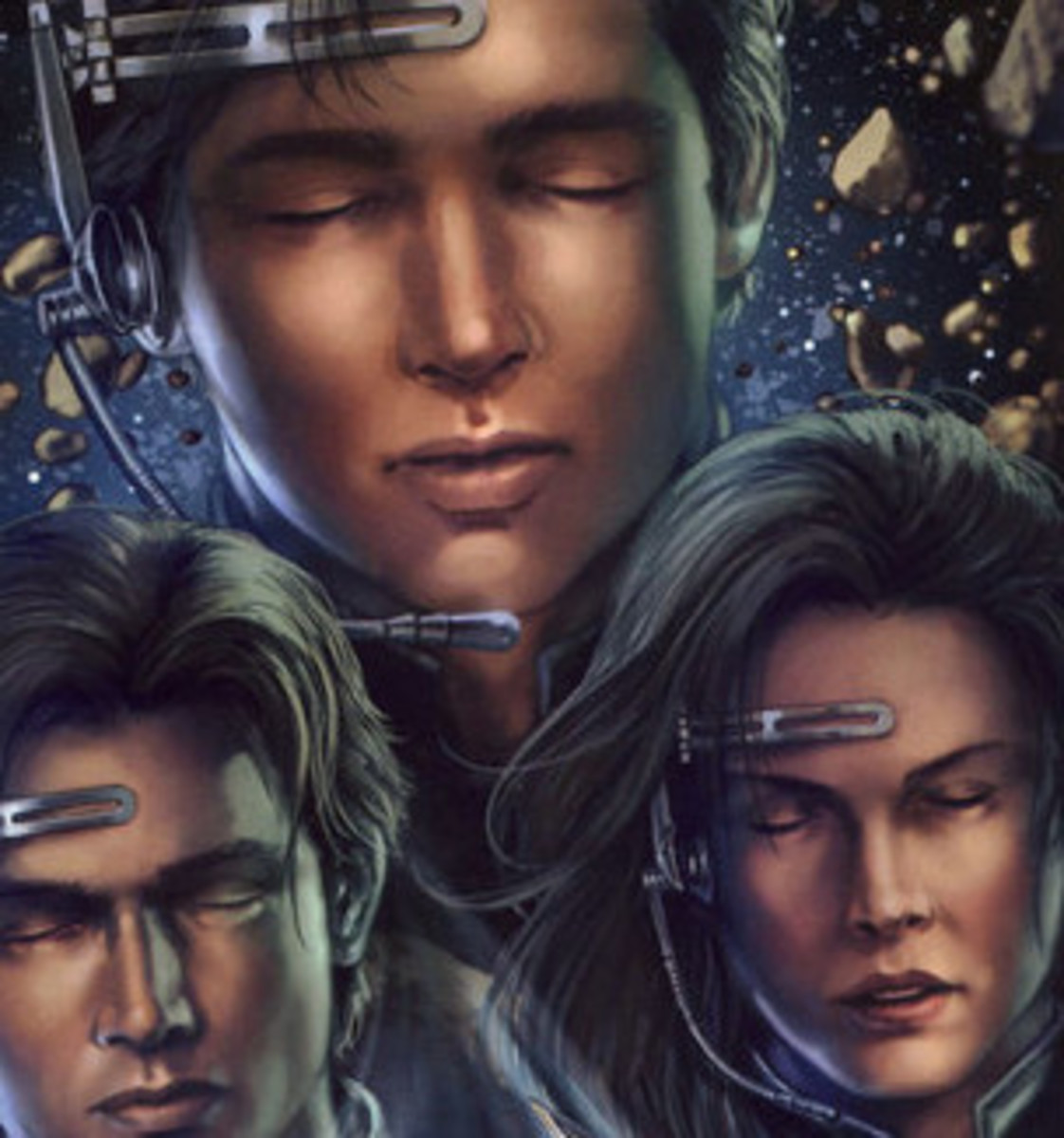 Anakin, Jacen, and Jaina Solo using Force Meld.