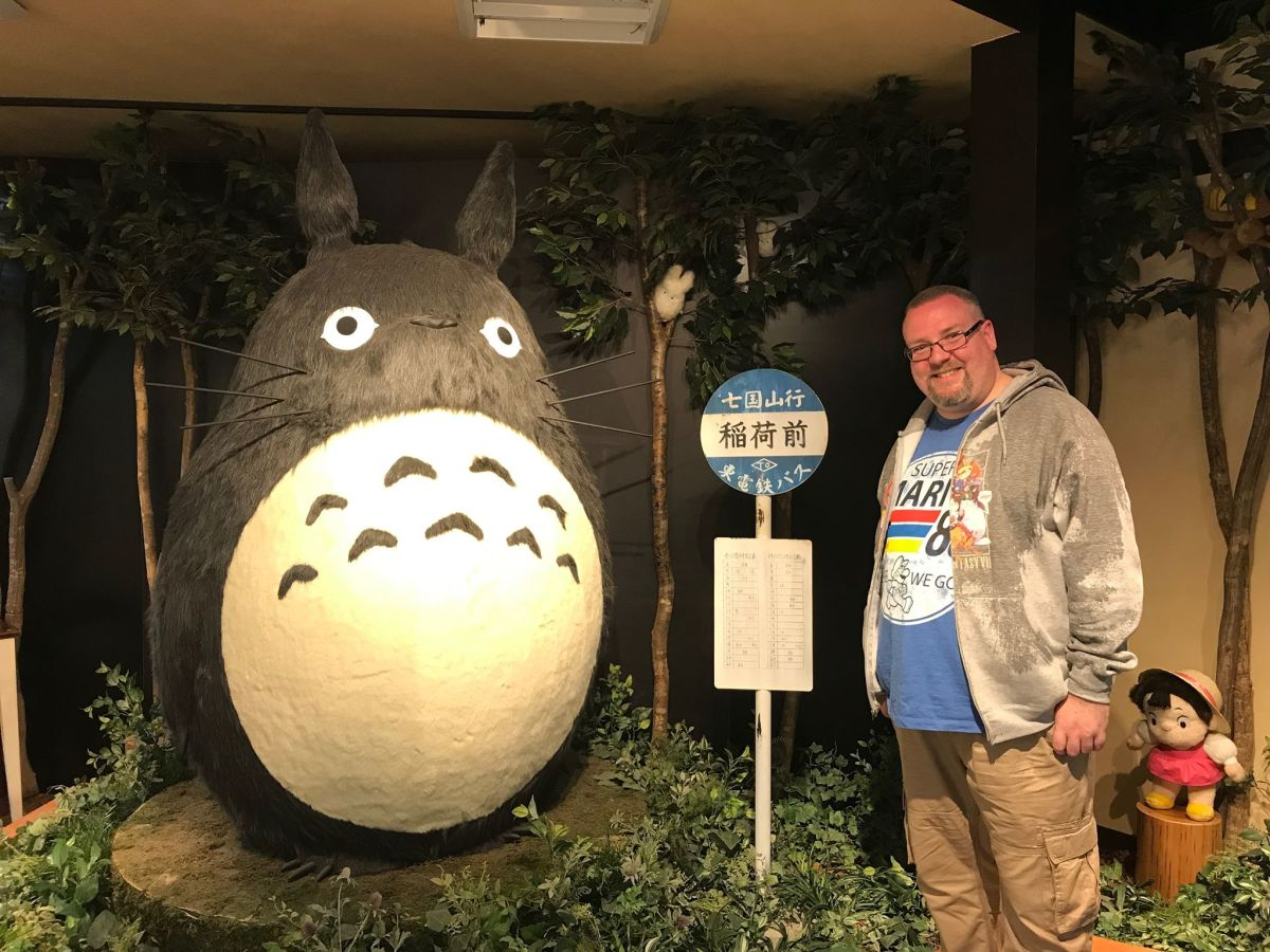 Couldn't complete this review without this picture of me and Totoro in Kyoto in April, 2019. The reason I'm soaking wet is because, like Totoro himself, I didn't have an umbrella!
