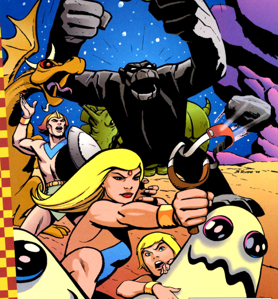 "The Herculoids on the cover of ""Cartoon Network Presents"" #17."