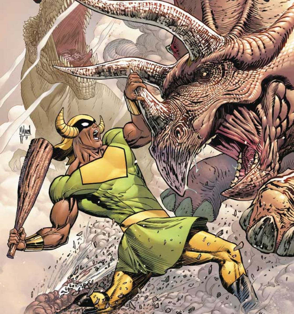 "Mightor on the cover of ""Future Quest"" #8."