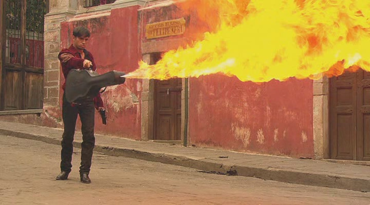 Why doesn't every film come with Enrique Iglesias with a guitar-case flamethrower?