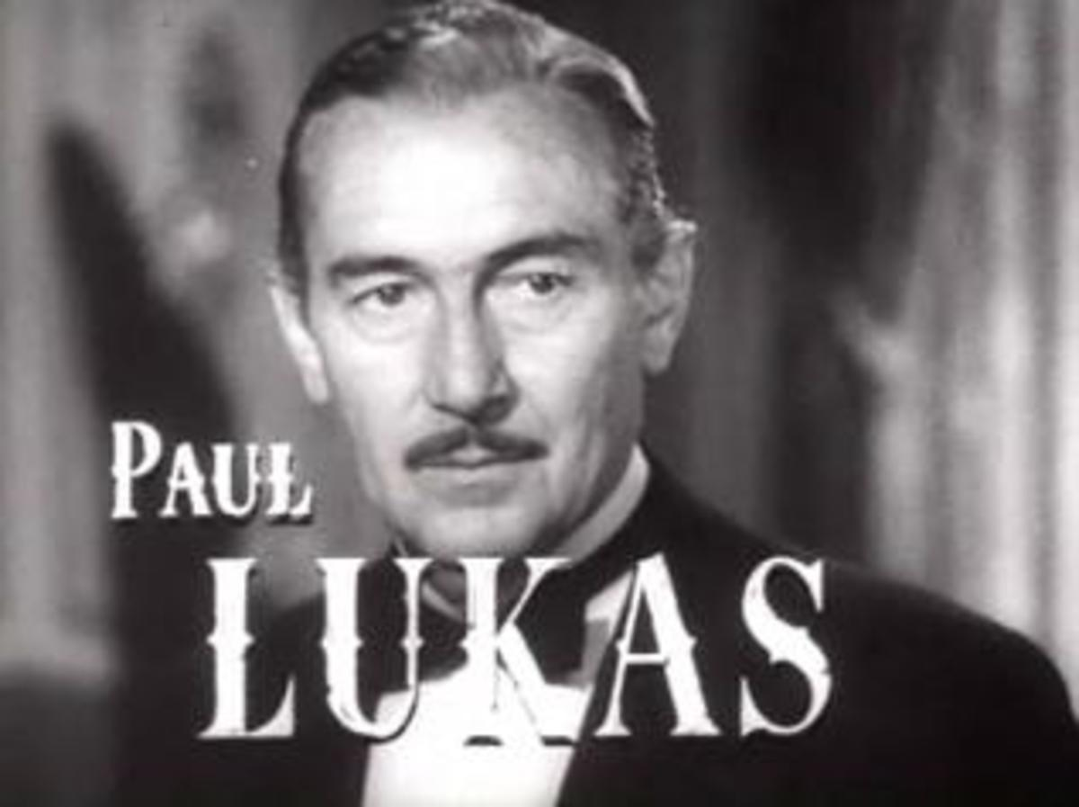 """Paul Lukas in a screenshot from the film """"Experiment Perilous"""" (1944)"""