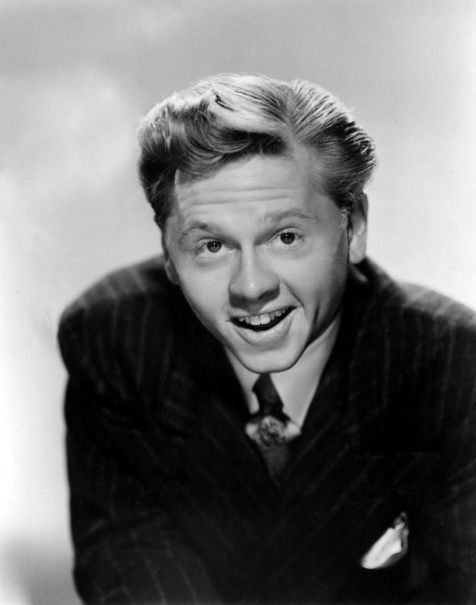 Mickey Rooney in a studio publicity portrait c. 1940