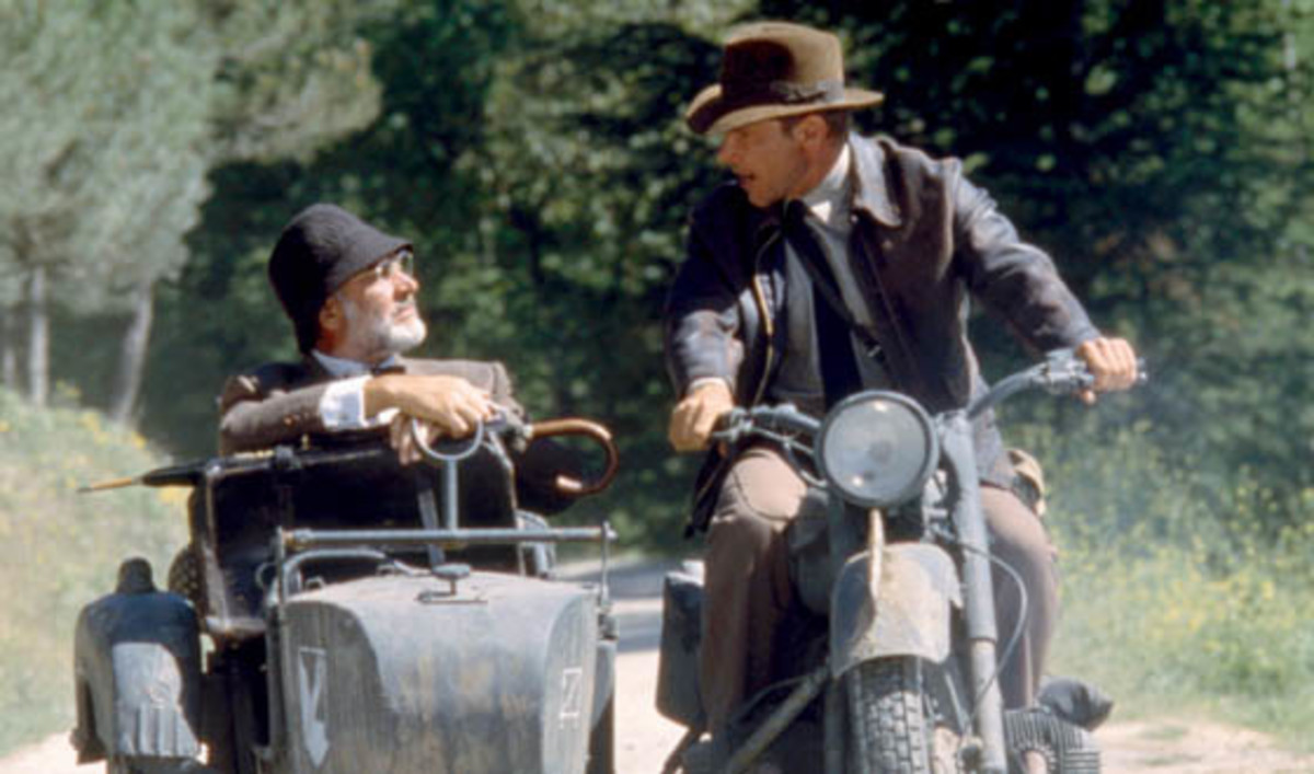 The introduction of Connery (left) to the series brought the humour back to Indy