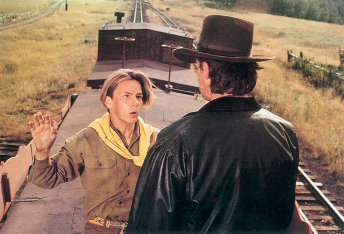 The opening scenes belong to River Phoenix (left) as the young Indy