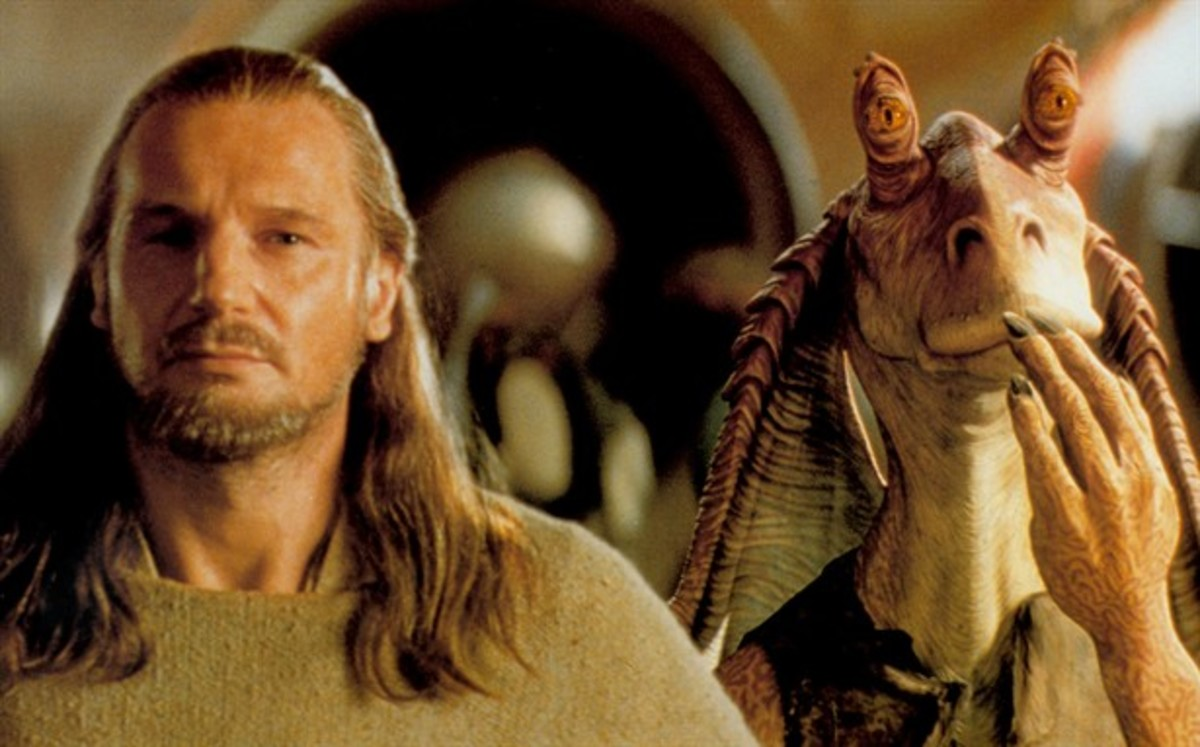 The film is not a complete waste of time, despite the presence of cinema's most hated character of all time (right)...