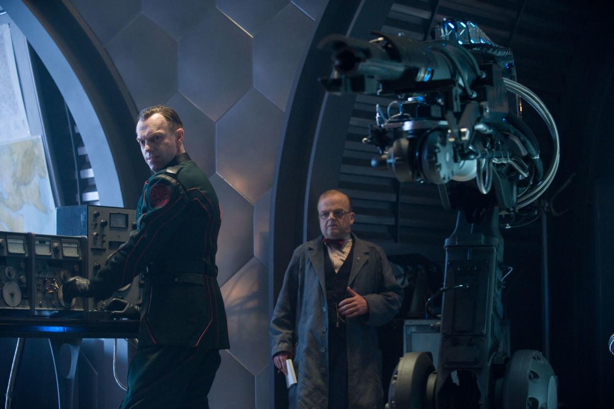 """Hugo Weaving (left) & Toby Jones leads the baddies in """"Captain America: The First Avenger"""""""