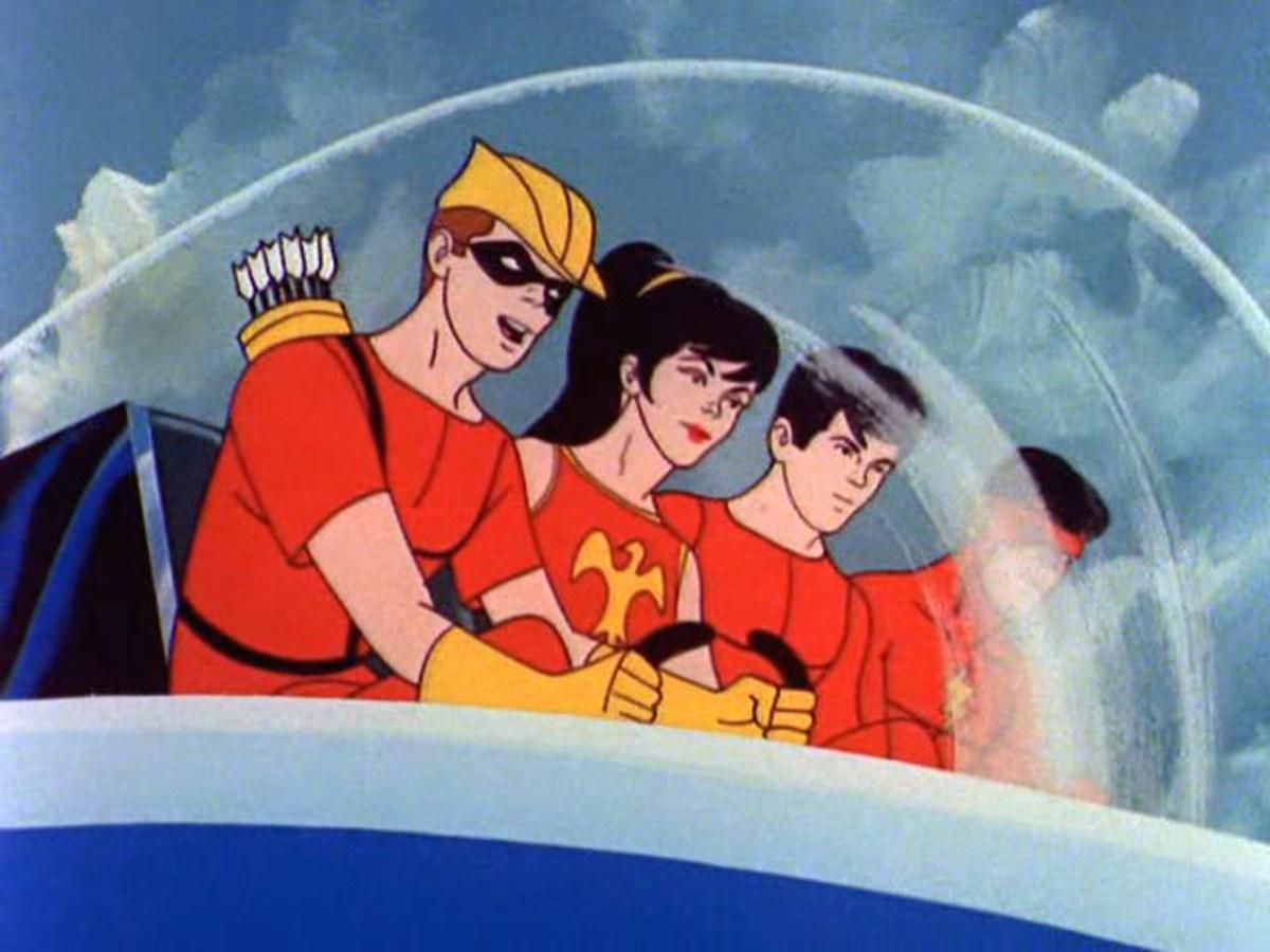 The Teen Titans segment featured the original lineup (sans Robin): Speedy, Wonder Girl, Aqualad, and Kid Flash.