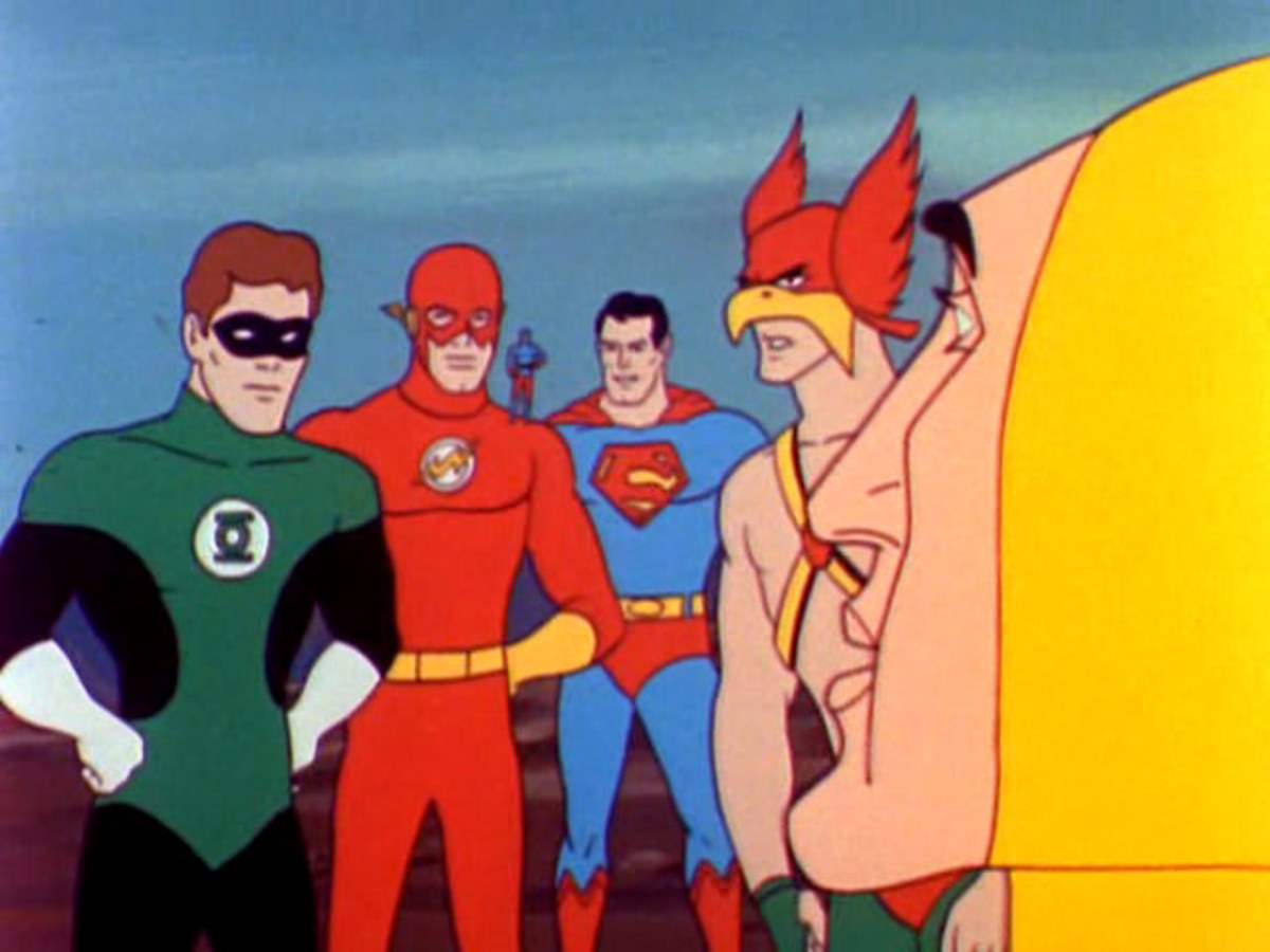 The main heroes would also appear together in shorts depicting the first animated appearance of the Justice League.